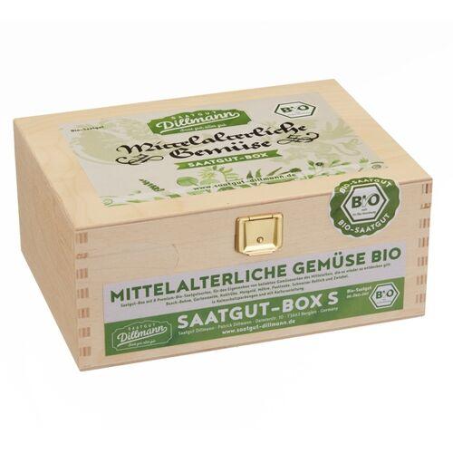Saatgut Dillmann Mittelalterliche Gemüse Saatgut-holzbox S Bio