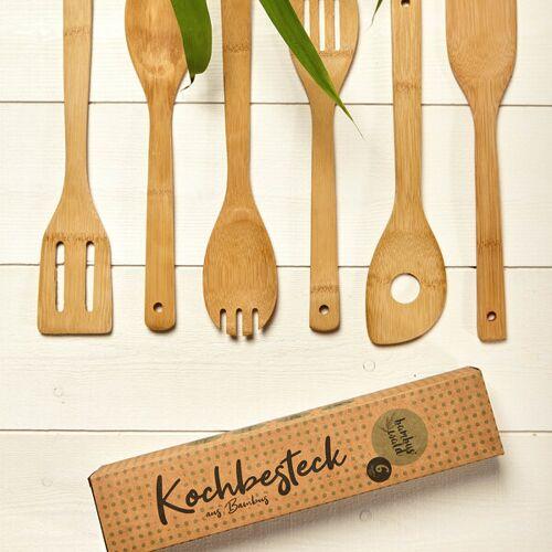 Bambuswald 6er Kochlöffel-set Aus 100% Bambus   Küchenlöffel bambus