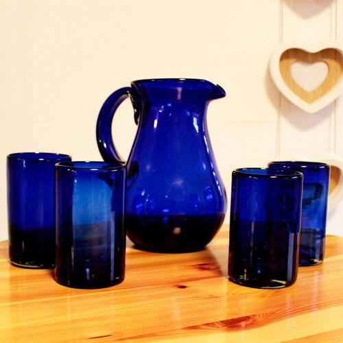 Mitienda Shop Gläser 4er Set Kobaltblau   13 Cm kobaltblau