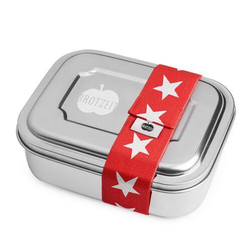 Brotzeit Edelstahl Lunchbox Duo, Viele Designs sterne rot