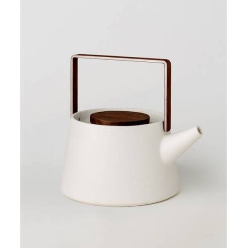 Asmi Ayurveda Tulā Teekanne Mit Teesieb + Gratis Teeset Mit 3 Teesorten weiss