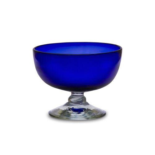 Mitienda Shop Eisbecher 4er Set Aus Recycling Glas, Blau blau
