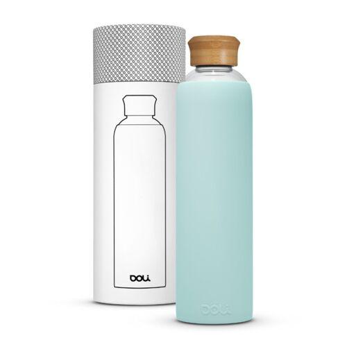Doli Trinkflasche Aus Glas 1l Mit Schutzhülle, Bpa-frei Ohne Schadstoffe mint (bamboo mint)