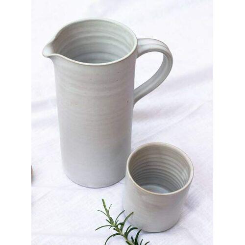 STUDIO JUX Karaffe Aus Keramik weiß grau