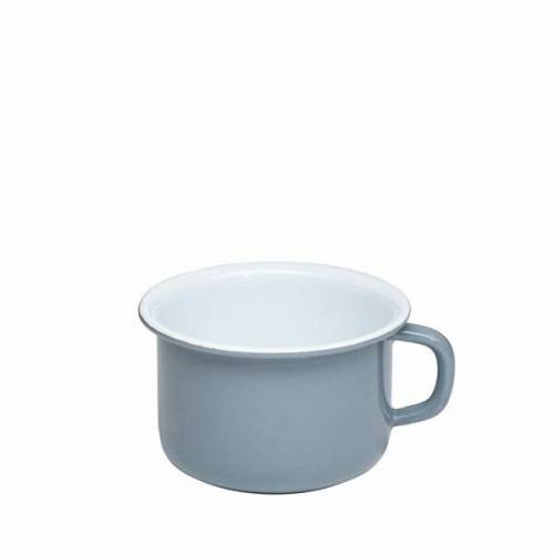 Riess Emaille Kaffeetasse pure grey