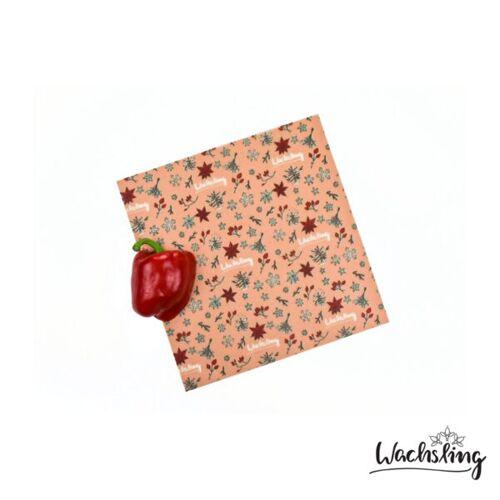 Wachsling 2er Set Handgemachte Bienenwachstücher Mittel Winterling Rosa winterling (rosa)