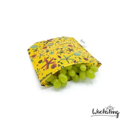 Wachsling Bienenwachstuchbeutel Klein Blumenwiese Gelb Wachsling blumenwiese (gelb)