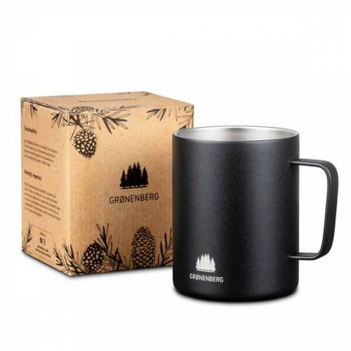 GROENENBERG Edelstahl -Tasse 350 Ml   Doppelwandige Kaffeetasse