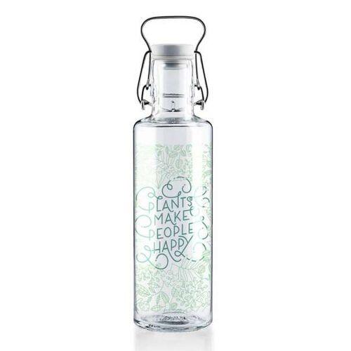 soulbottles Soul Bottles Trinkflasche Glasflasche Plants Make People Happy 600 Ml