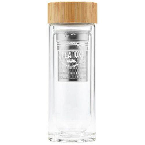 TEATOX Tea To Go Thermosflasche Aus Glas
