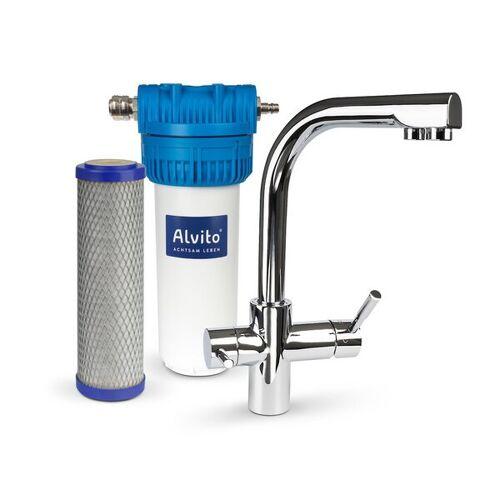 Alvito Wasserfilter Comfort Mit 3-wege-armatur Und Aktivkohlefilter
