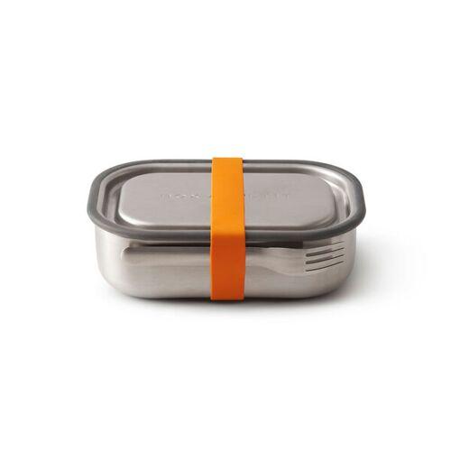 """Black + Blum Auslaufsichere Lunchbox """"Steel Lunch Box"""" Aus Edelstahl Inkl. Gabel orange"""