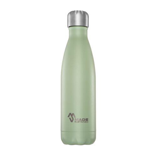 Made Sustained Plastikfreie Edelstahlflasche 0,5 L. Mit Deckel grau sage