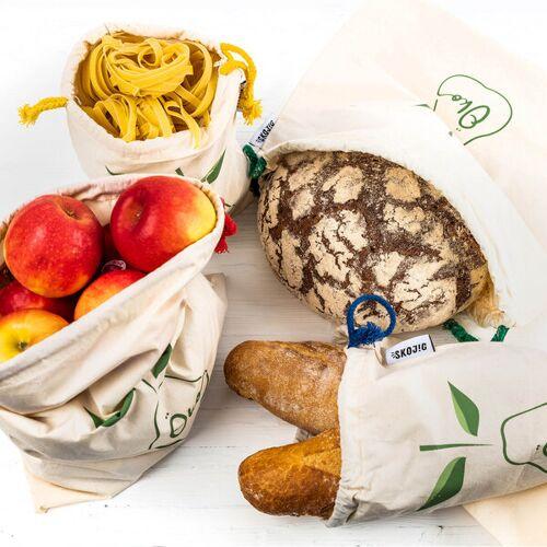 Skojig Brot- & Gemüsetasche Inkl. Saisonkalender Im 4er Set