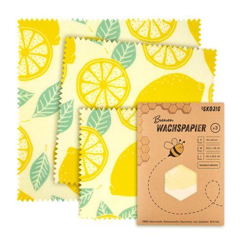 Skojig 3er Pack Bienenwachstücher Wachspapier Bienenwachstuch  3x medium (25x28cm)