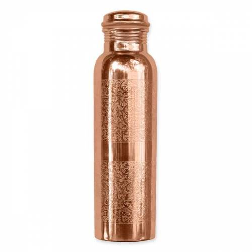 Forrest & Love Kupferwasserflasche - Graviert (900 Ml)
