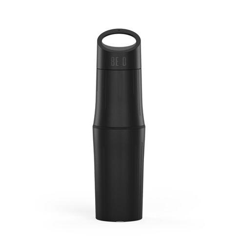 BE O bottle Trinkflasche Aus Zuckerrohr - Plastikfrei schwarz