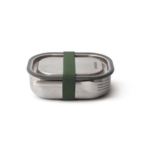 """Black + Blum Auslaufsichere Lunchbox """"Steel Lunch Box Small"""" 600ml Aus Edelstahl olive"""