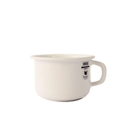 Riess Emaille Kaffeetasse weiß