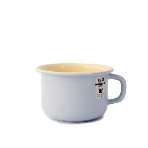 Riess Emaille Kaffeetasse pastellblau