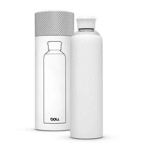 Doli Trinkflasche Aus Glas 1l Mit Schutzhülle, Bpa-frei Ohne Schadstoffe weiss