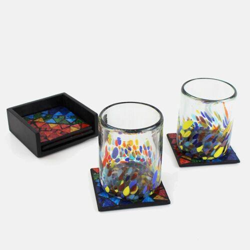 Mitienda Shop Untersetzer Mit Mosaik Bunt 4er-set bunt