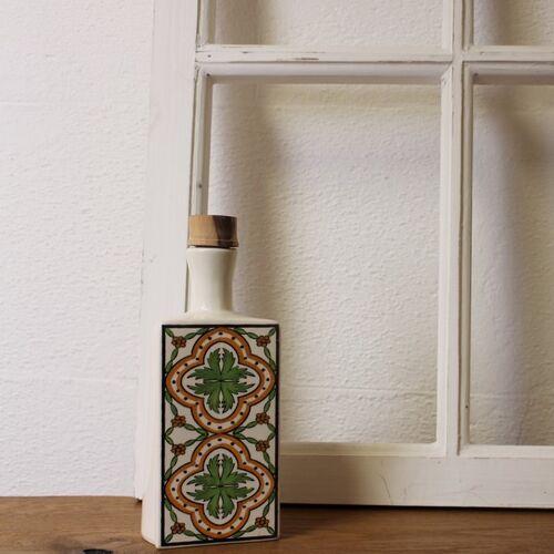 Mitienda Shop Keramik Flasche Weiß, Ölflasche weiß