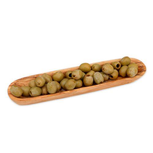 Olivenholz erleben Schale (L25 Cm) Aus Olivenholz Für Tapas