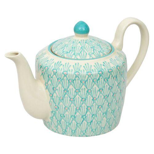 TRANQUILLO Teekanne Art Deco Aus Steinzeug 650 Ml