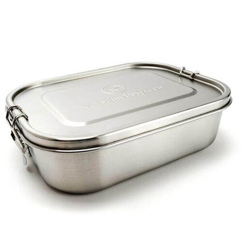 samebutgreen Große Edelstahl Brotdose - Lunchbox   Trennwand   1.400 Ml