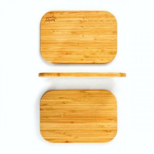 Bambuswald 3er Set Frühstücksbrettchen/frühstücksbretter   100% Nachhaltiger Bambus - Schneidebrett-set Brettchen Holzbrett bambus