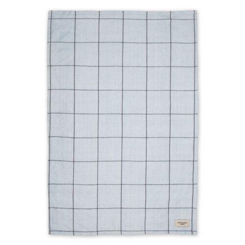 Aspegren Geschirrtuch Aus Halbleinen Mit Bio-baumwolle 50 x 70 Cm squares blue/grey