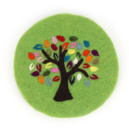 Globo Topfuntersetzer Tree Of Life Aus Wollfilz grün