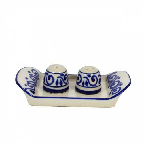 Mitienda Shop Keramik Salz & Pfeffer Streuer Set, Talavera-stil Handgemacht