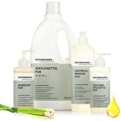 NATUREHOME 4er Set Bio Wasch- Und Reinigungsmittel Pur Antiallergen