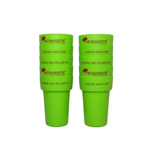 NOWASTE Mehrweg-trink-becher 10er Pack In Grün grün