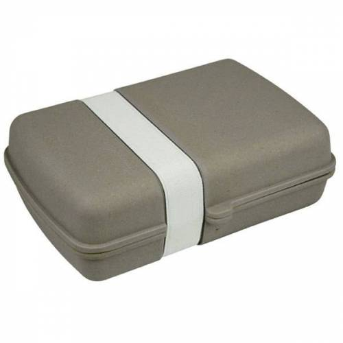 Zuperzozial Lunch Box Für Pausenbrot stone grey