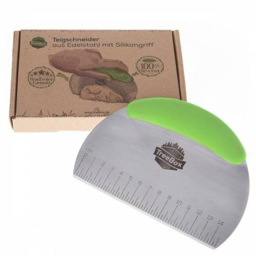 Treebox Teigschneider Aus Silikon Und Edelstahl – Der Teigschaber Ohne Plastik mint (grün)