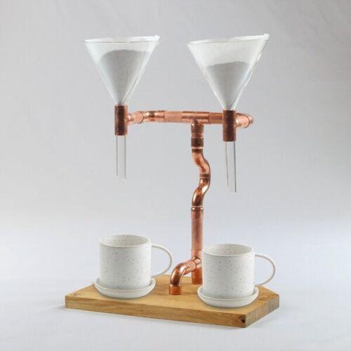 Holzköpfchen 2er Kaffeebereiter (Pour Over Coffee Maker, Kaffeemaschine) coffee