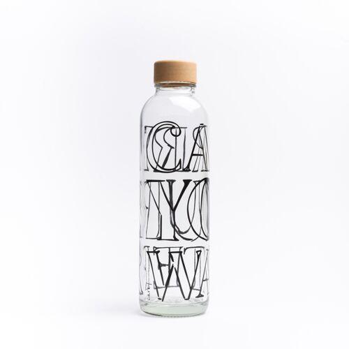 Carry Bottles Glastrinkflasche 0.7l Verschiedene Designs carry your water