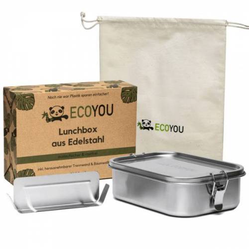 EcoYou Lunchbox Ecoyou - Auslaufsichere Brotdose Aus Edelstahl 800 Oder 1200 Ml  l (1200 ml)