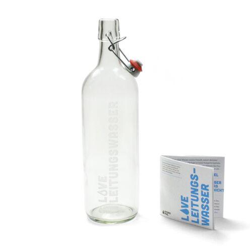 HYDROPHIL Bügelflasche - Love Leitungswasser Mit Gravur