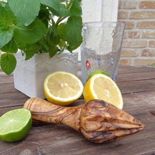 Olivenholz erleben Zitronenpresse Aus Olivenholz