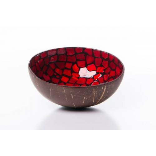 Bea Mely Perlmutt-kokosnuss-schale - Rot rot