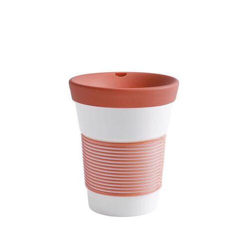 Kahla Kaffeebecher To Go Aus Porzellan 0,35l coral sunset