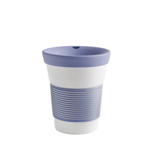 Kahla Kaffeebecher To Go Aus Porzellan 0,35l stormy blue