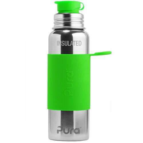 Pura Sportflasche Isoliert 600ml Mit Sleeve grün