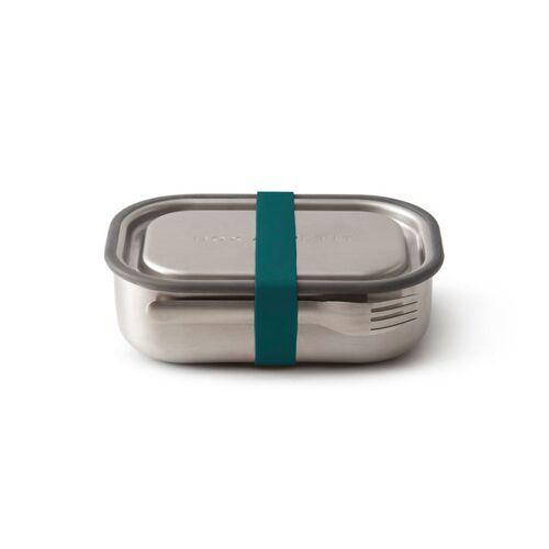 """Black + Blum Auslaufsichere Lunchbox """"Steel Lunch Box"""" Aus Edelstahl Inkl. Gabel ocean"""