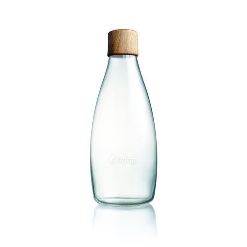 Retap Bottle - 0,8l Trinkflasche nussbaumholz (nicht auslaufsicher)