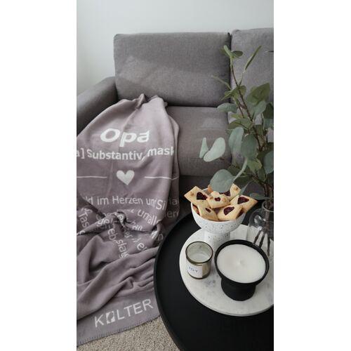Kolter Opa Kuscheldecke Wolldecke Wohndecke Decke Bio-decke Couchdecke Aus Bio-baumwolle